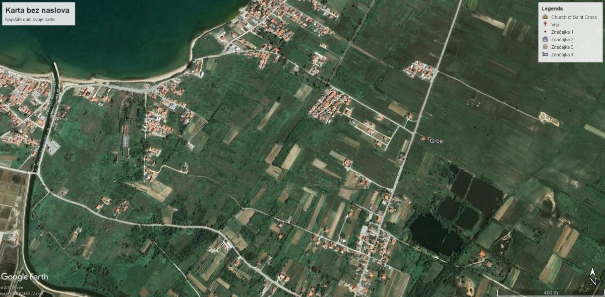 VRSI / GRBE, građevinsko zemljište 579 m2
