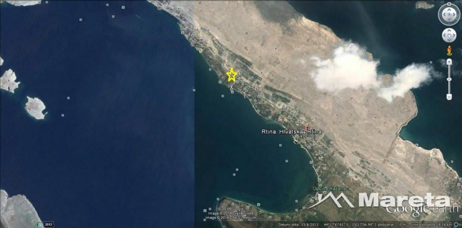 **RTINA** zemljište 618m2, 150m do mora, pogled na more!!!